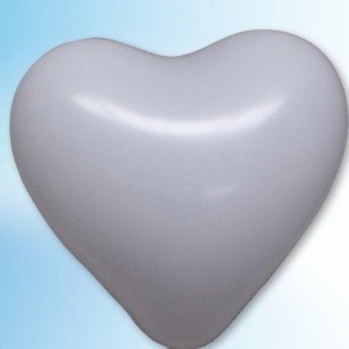 Globos Hartjes ballon wit ø 35 cm 25 stuks