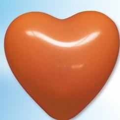 Hartjes ballon oranje ø 25 cm 25 stuks