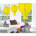 Folat Decoratie ballon geel 37 cm