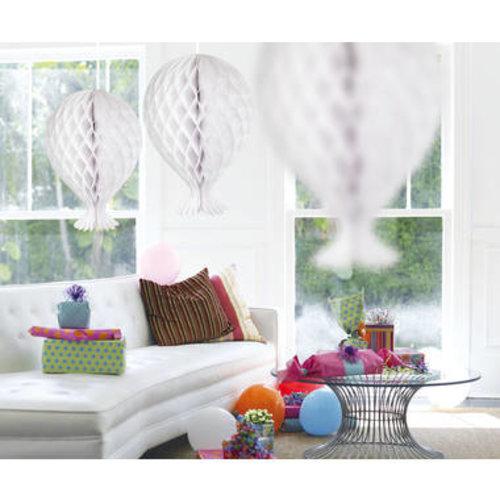 Folat Decoratie ballon wit 37 cm