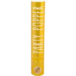 Confetti shooter goud 28 cm