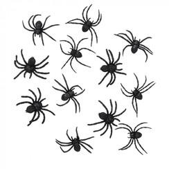 Halloween spinnen 12 stuks
