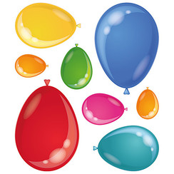 Raamsticker ballonnen statisch 8 stuks