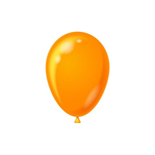 HSA Raamsticker ballonnen oranje statisch 15 x 10 cm 6 stuks