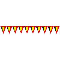 Raamsticker vlaggenlijn België statisch 130 x 17 cm