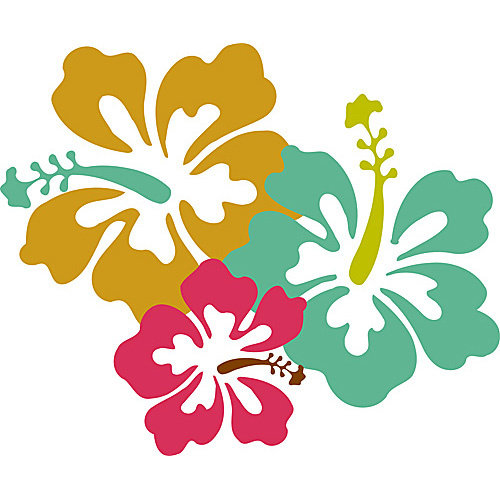 HSA Muursticker Hawaii bloem 40 x 33 cm