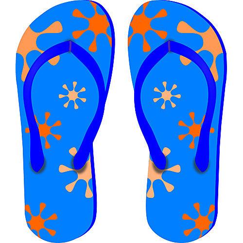 HSA Muursticker slippers 40 x 33 cm