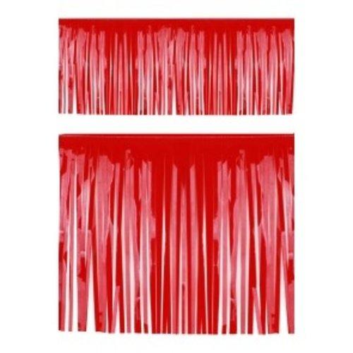 PartyXplosion Franje slinger pvc rood 6 m brandveilig