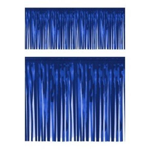 PartyXplosion Franje slinger pvc blauw 6 m brandveilig