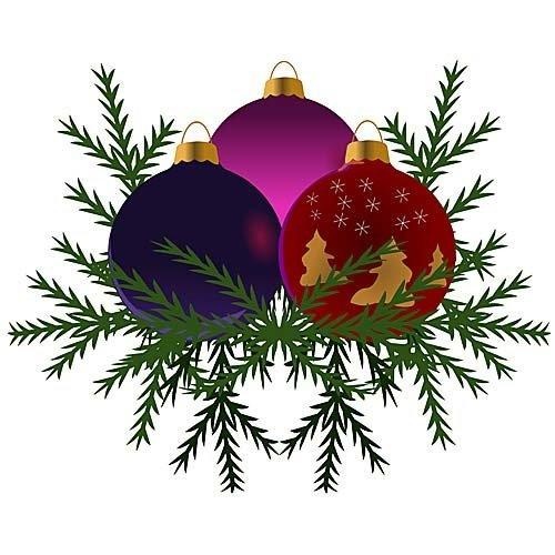 HSA Muursticker kerstballen 40 x 33 cm