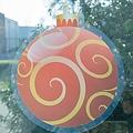 Raamsticker statisch kerstbal 25 cm