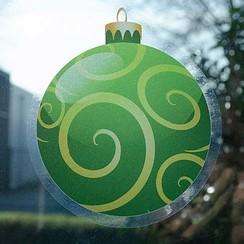 Raamsticker statisch kerstbal 20 cm