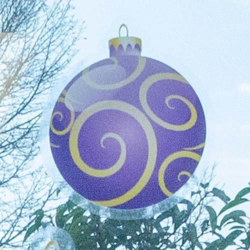 Raamsticker statisch kerstbal 15 cm