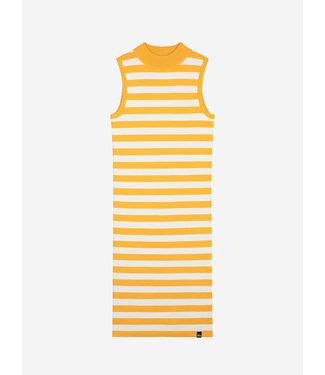 Nik & Nik Gwen Halter Dress Orange Stripe