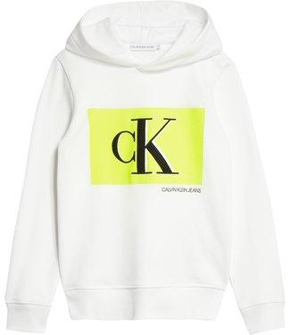 Calvin Klein MONOGRAM CONTRAST HOODIE White