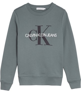 Calvin Klein MONOGRAM LOGO SWEATSER Forest Grey