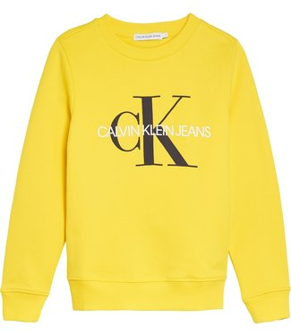 Calvin Klein MONOGRAM LOGO SWEATER Bold Yellow