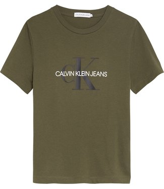 Calvin Klein MONOGRAM LOGO T-SHIRT Grape Leaf