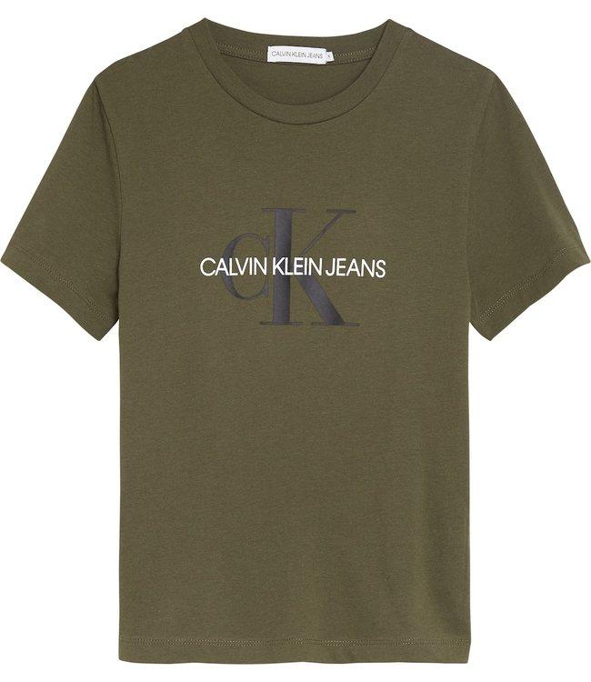 Calvin Klein MONOGRAM LOGO T-SHIRT Grape Leaf
