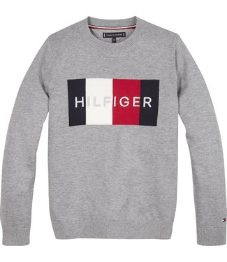 Tommy Hilfiger TH LOGO SWEATER MID GREY