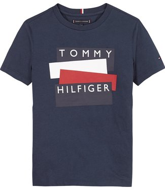 Tommy Hilfiger TH STICKER TSHIRT TWILIGHT NAVY