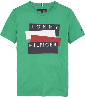 Tommy Hilfiger TH STICKER TSHIRT COSMIC GREEN