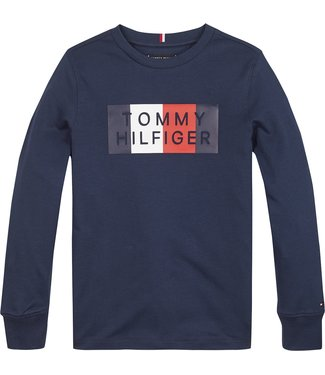 Tommy Hilfiger GLOBAL STRIPE TEE L/S TWILIGHT NAVY
