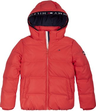 Tommy Hilfiger PADDED REFLECTIVE JACKET DEEP CRIMSON