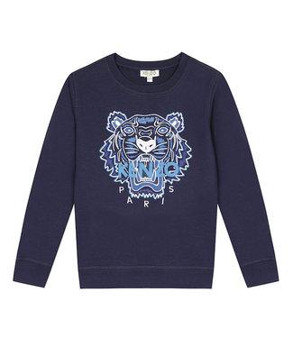 Kenzo KR15658 tiger JB B2 sweater navy