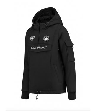 Black Bananas JR F.c. Anorak Fleece Jacket black