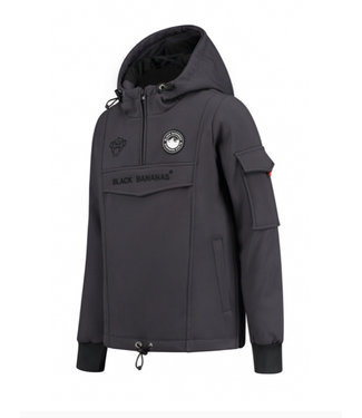 Black Bananas JR F.c. Anorak Fleece Jacket grey