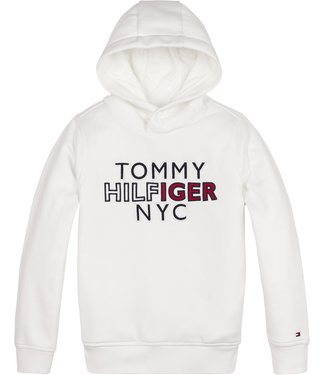 Tommy Hilfiger TH NYC GRAPHIC HOODIE WHITE