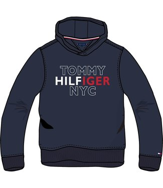 Tommy Hilfiger TH NYC GRAPHIC HOODIE TWILIGHT NAVY