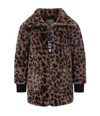 LOOXS LITTLE Little fancy jacket leopard AOP