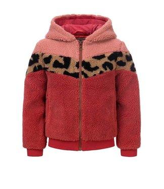 LOOXS LITTLE Little teddy hooded jacket mahony