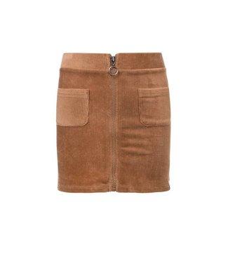 LOOXS 10SIXTEEN Girls velvet rib skirt camel