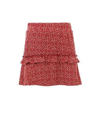 LOOXS 10SIXTEEN Girls printed skirt merlot