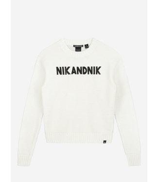 Nik & Nik Aubree Pullover Off White