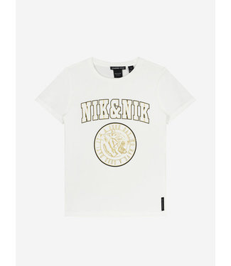 Nik & Nik Poppy T-Shirt Off White