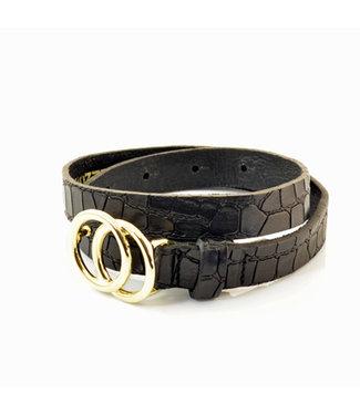 Kidzzbelts Kidzzbelts riem gold croco black
