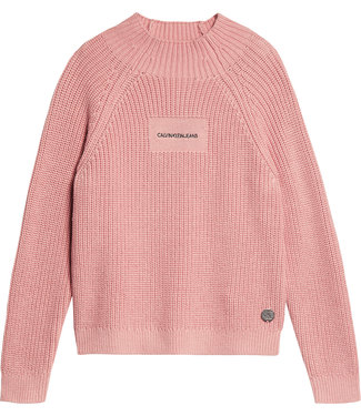 Calvin Klein OCO MOCK NECK BOXY SWEATER Soothing Pink
