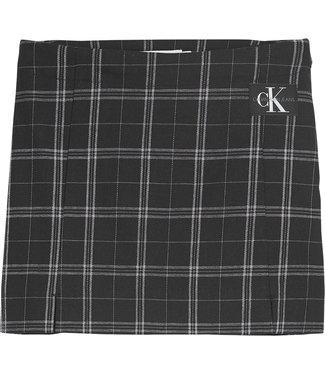 Calvin Klein CHECK MINI SKIRT CHECK BLACK
