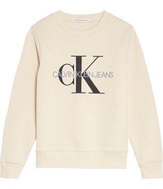 Calvin Klein MONOGRAM LOGO SWEATS Whitecap Gray