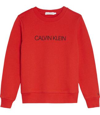 Calvin Klein INSTITUTIONAL LOGO SWEAT Fierce Red
