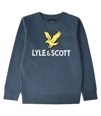 Lyle & Scott EAGLE LOGO CREW SWEAT Orion blue