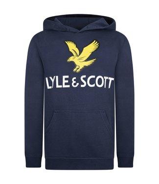 Lyle & Scott EAGLE LOGO HOODIE Navy blazer