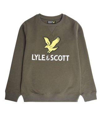 Lyle & Scott EAGLE LOGO CREW SWEAT grape leaf