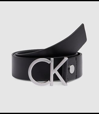 Calvin Klein Girls riem CK black/silver