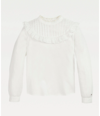 Tommy Hilfiger PINTUCK TOP L/S WHITE