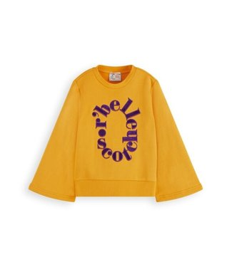 Scotch & Soda Crewneck sweat with A-line sleeves golden sun